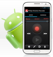 Philips 747 SpeechExec dictation recorder for Android Phones - Single User Edition