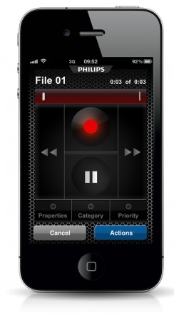 Philips 743 Dictation Recorder for iPhone / iPad - Single User Edition